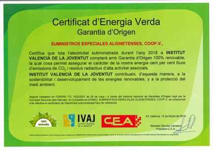 certificat verd